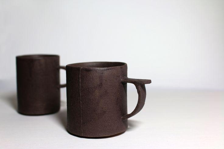 Vintage cups  cup,stoneware,dry glaze,slip casting,jahyeon jeon