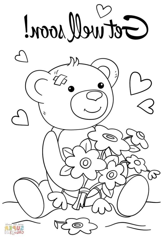 27 Excellent Photo Of Get Well Coloring Pages Free Printable