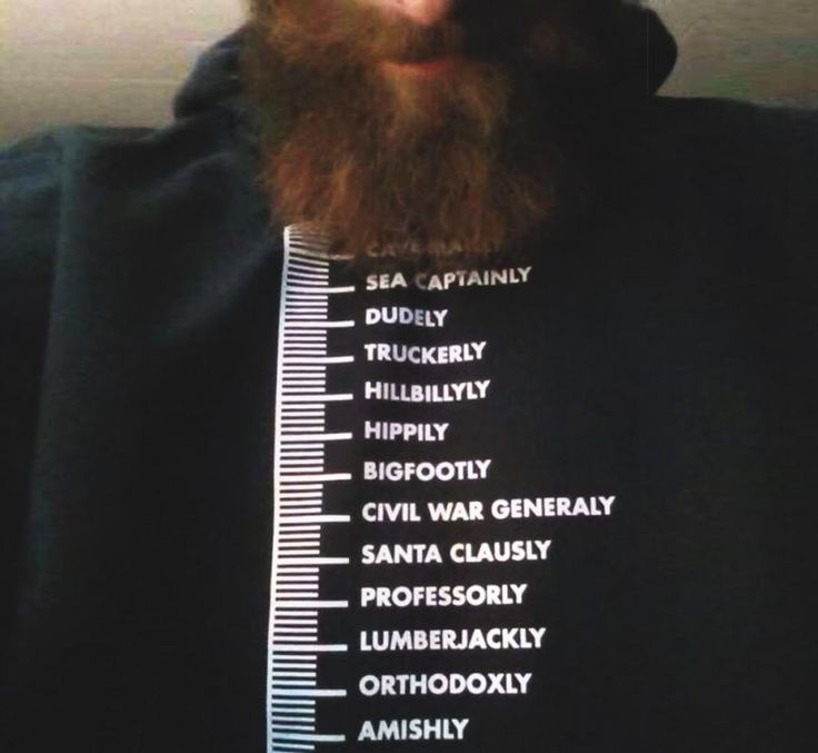 This t-shirt contains a chart on the front of it that is meant to measure your beard and tell you where you stand from the length of your beard. Whether you're just starting out and have the beard len...