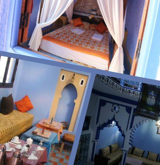 Anche Ostelli e Riad sono azzurri a #Chefchaouen!