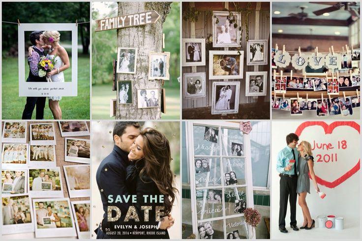 Wedding decoration with photos Оформление свадьбы фото