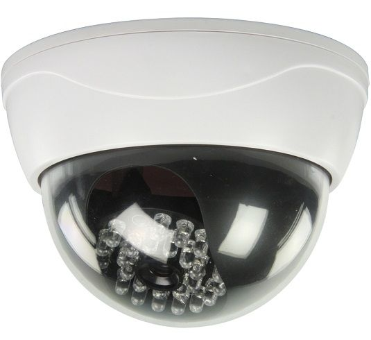 Dóm CCTV álkamera 25 db infravörös LED-del. Professzionális, megtévesztően igazinak tűnő megjelenésével elriasztja a károkozó vandálokat, illetve a...
