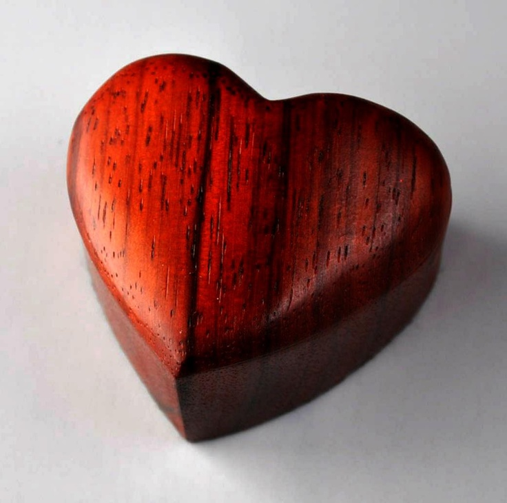 Solid Padauk Jewelry Box via Etsy