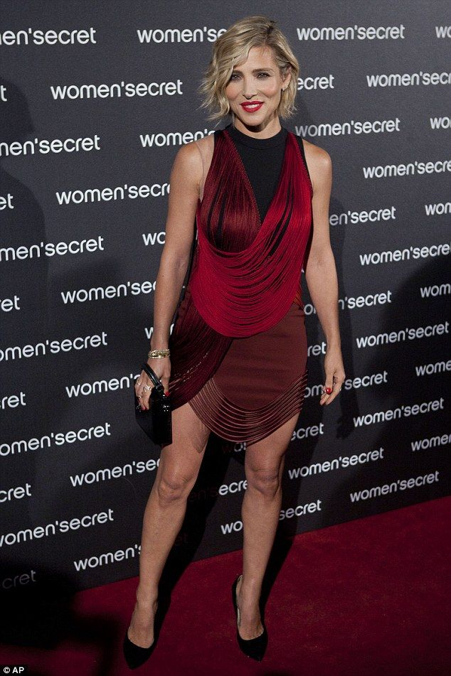 Red hot! The mother-of-three showed off her enviable figure in a body con mini-dress at th...