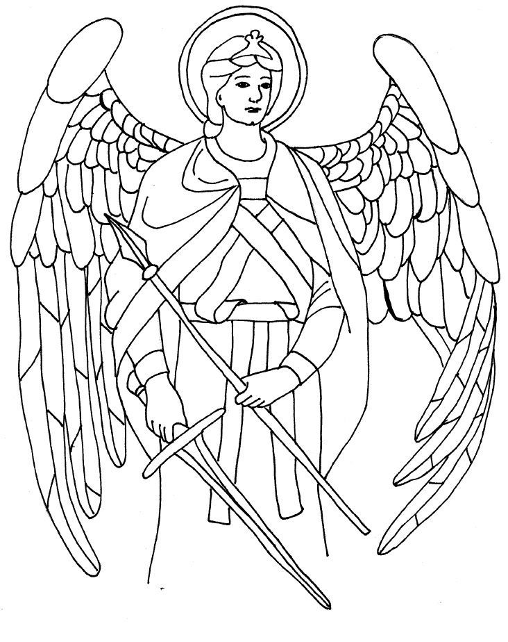 saint raphael coloring page angels pinterest st