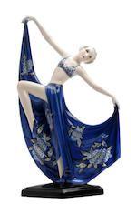 Bonhams : A Goldscheider art deco dancing girl figure, designed by Josef Lorenzl Circa 1925