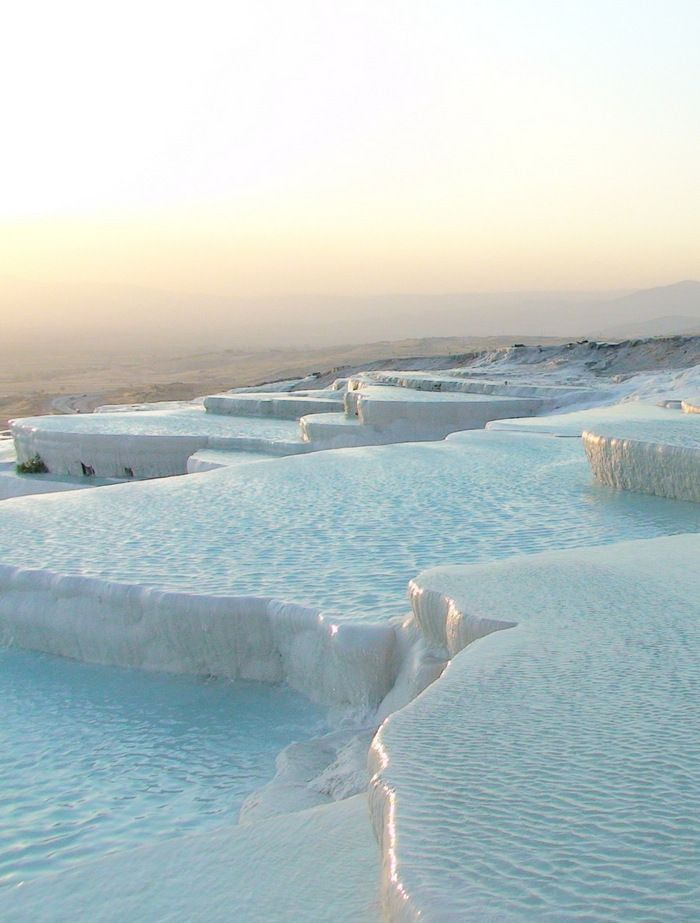 Pamukkale, Turkey. Natural rock pool (hot springs) like nowhere else in the world.