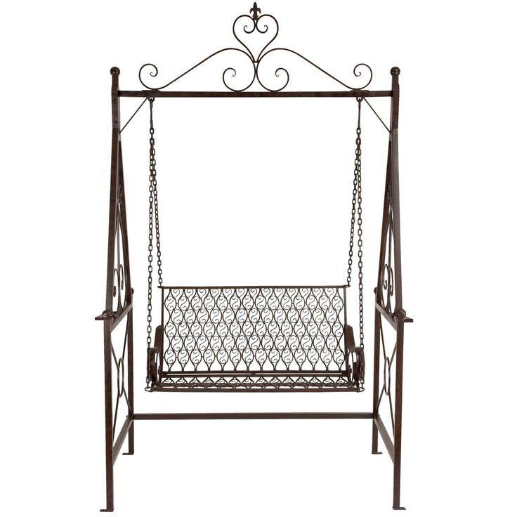 "94"" Metal Swing Chair made by Outdoor Living >> Would love this in my backyard!: Backyard Repin By Pinterest, Backyard Landscaping, Beautiful Backyards, Swings Hammocks, Swing Chairs, Future Backyard, Swing Chair Repin"