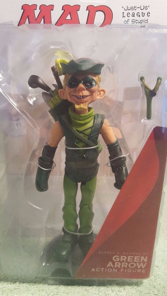 MAD Magazine Just Us League Alfred E. Neuman as Green Arrow 6-Inch Action Figure #DCDirectMadMagazineJustUsLeagueofStupid