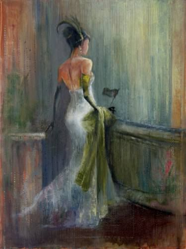 "Saatchi Art Artist Anna Ravliuc; Painting, ""At the theatre"" #art"