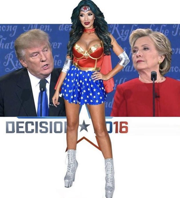 Farrah Abraham Supports Donald Trump in Vulgar Instagram Post
