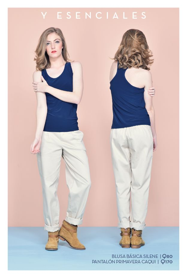 Blusa bàsica Silene Tallas: xs - s - m - l - xl Precio: Q80  Pantalón Primavera caqui Talla: 8 Precio: Q170
