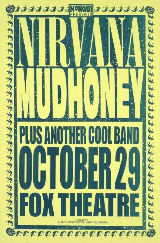 35 best Nirvana Posters images on Pinterest | Concert ...