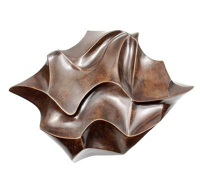 Found on www.botterweg.com - Patined bronze wall-relief with stylised fluid lines design Irene Rooseboom