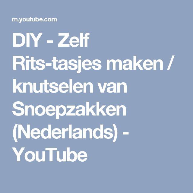 DIY - Zelf Rits-tasjes maken / knutselen van Snoepzakken (Nederlands) - YouTube