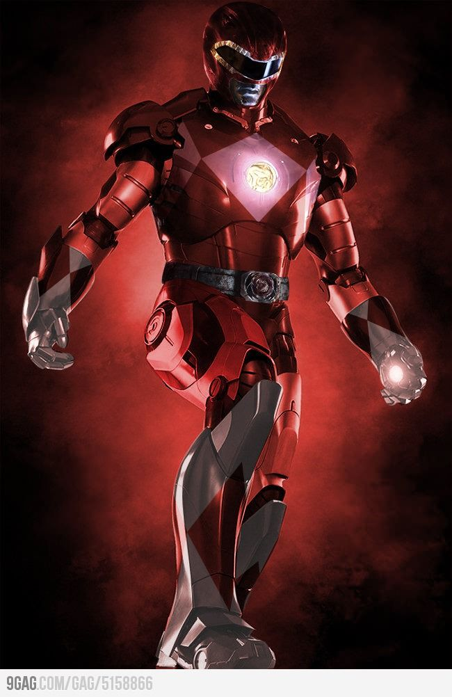 Iron Man x Red Power Ranger: Darth Vader, Irons Vader, Marvel Comic, Irons Man, Stars War, Power Ranger, Super Heroes, Tony Stark, Superhero