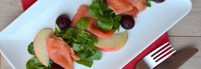 Zalm appel en rode biet voorgerecht recept - Vis - Eten Gerechten - Recepten Vandaag