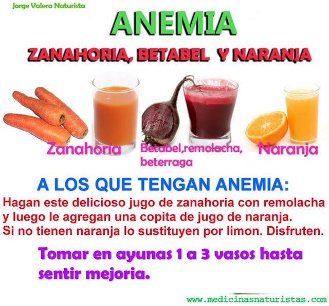 tomar te y anemia