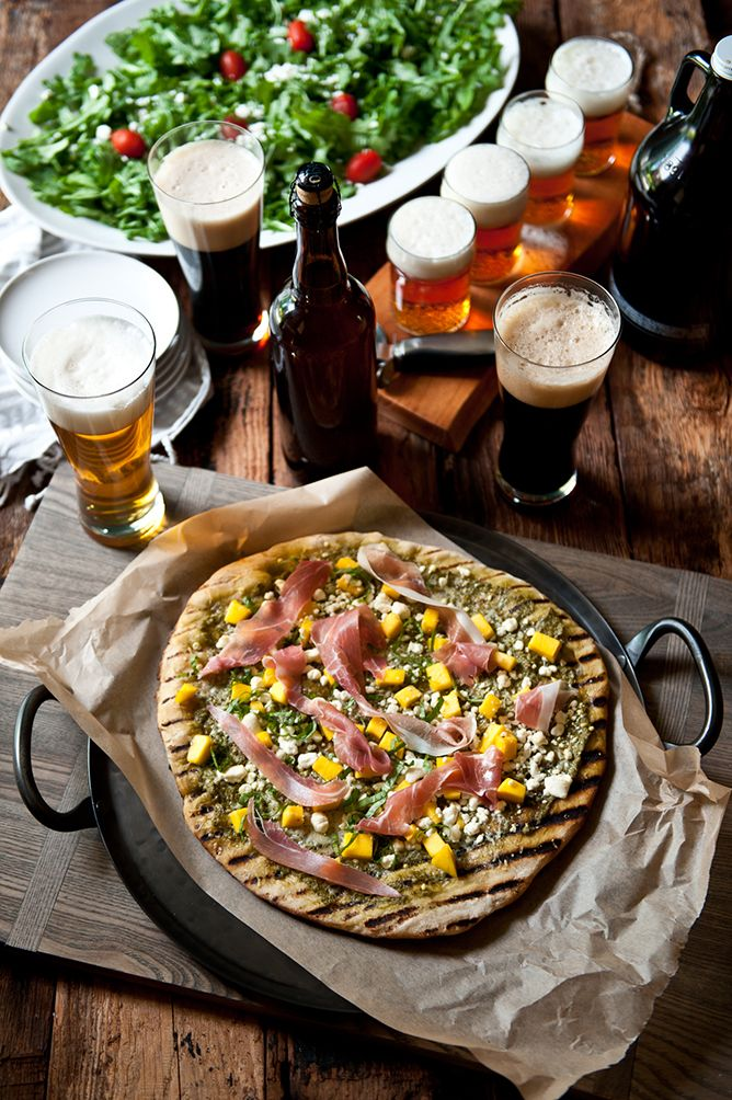 Beer tasting  and pizza party menu