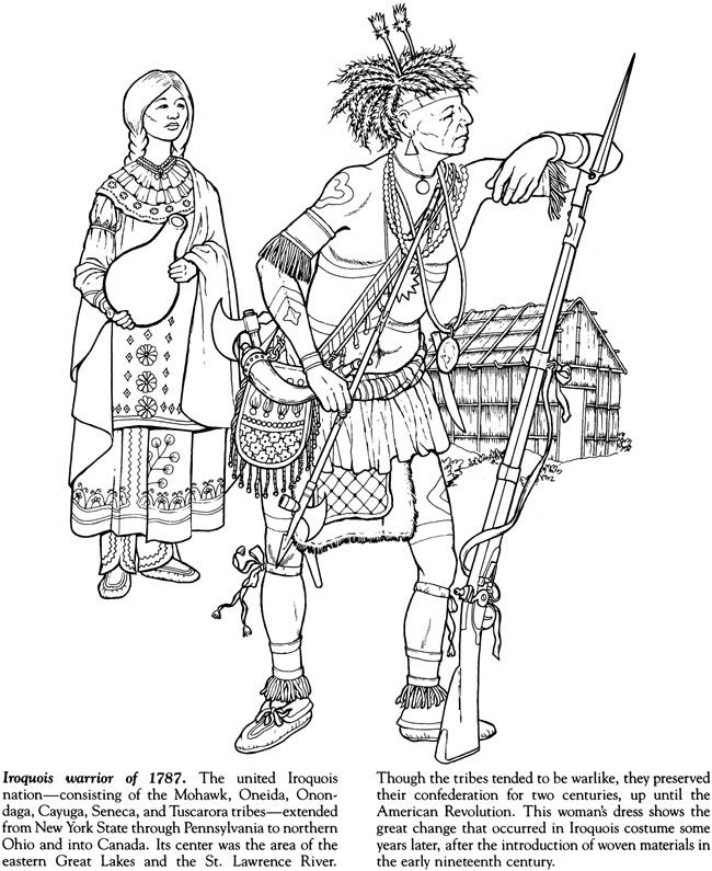 indian tribes of north america coloring book dover publications