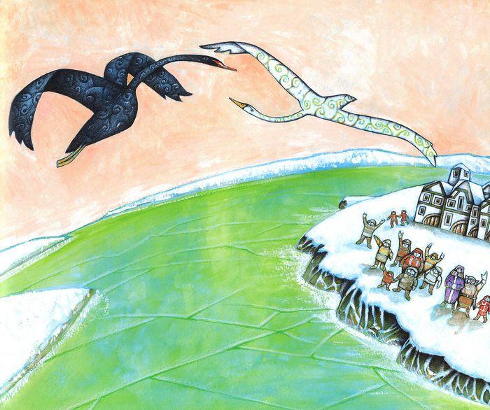 "Dražen Jerabek illustration for ""The Black Swan""."