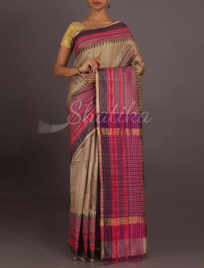 Prarthana Striking Stripes Pure #GhichaSilkSaree