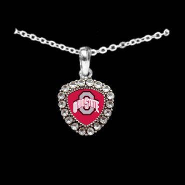 281 best ohio state buckeyes jewelry images on pinterest ohio crest crystal bezel necklace ohio state university f51204 osu fashionable ohio state university team jewelry aloadofball Gallery