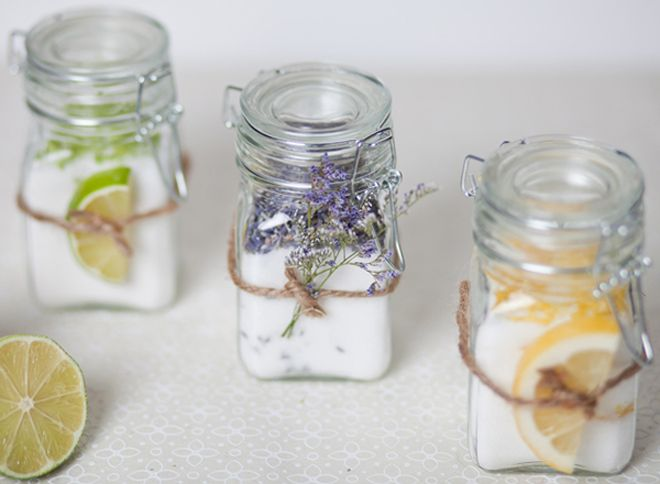 infused sugar wedding favors