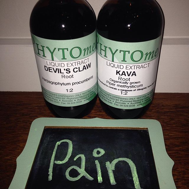 Devil's claw & Kava for pain