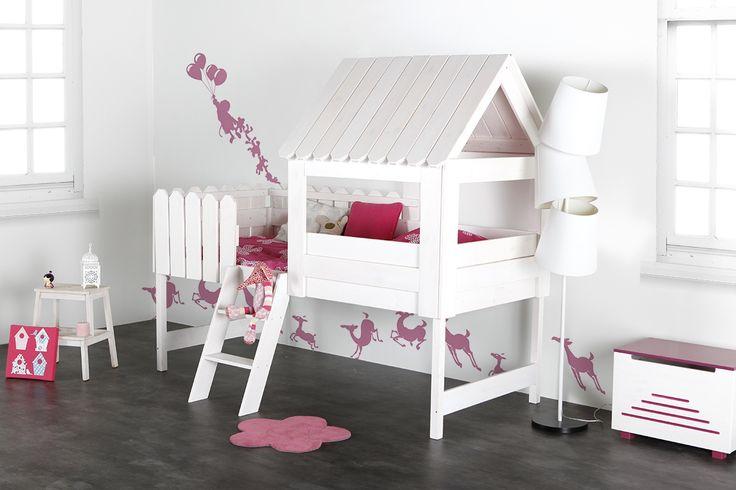 Lit cabane enfant blanc LITTLE HOUSE - Zoom