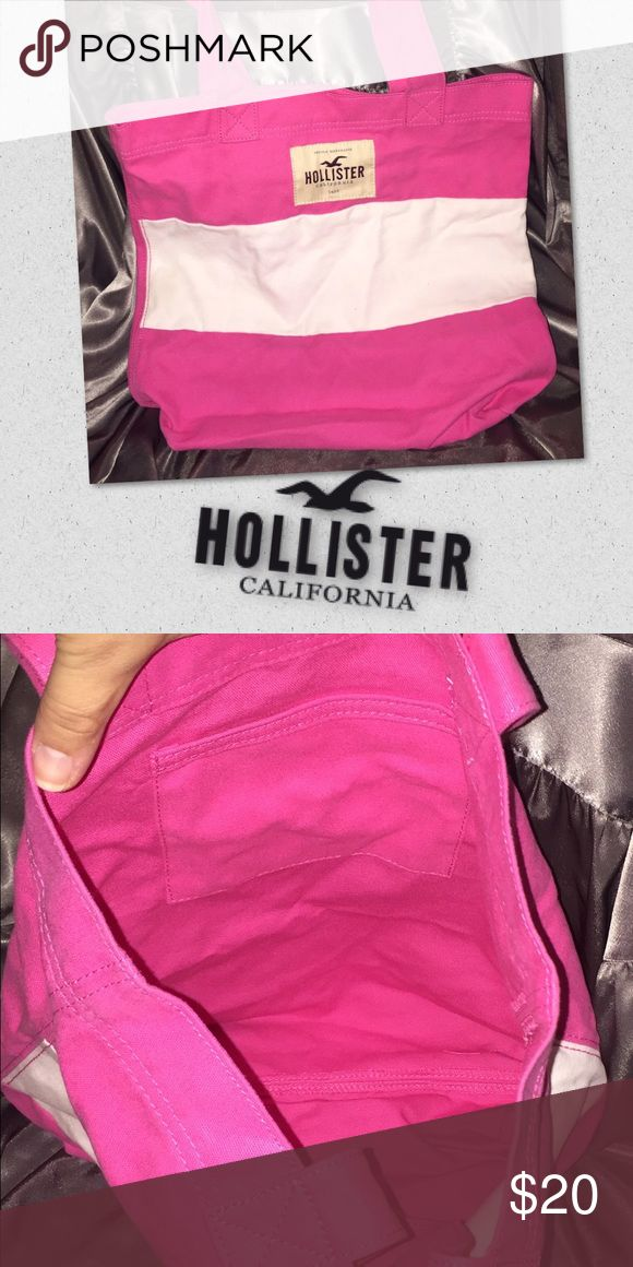 Hollister bag Hollister bag purse tote so cute never used clean pink and white striped Hollister Bags Totes