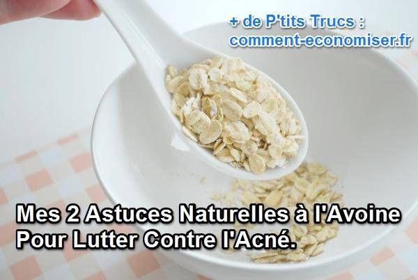 L'avoine est une céréale très riche en vitamines B2, B1 et B6. Elle contient magnésium, zinc, manganèse, phosphore et sélénium, un cocktail détonant pour embellir notre peau.  Découvrez l'astuce ici : http://www.comment-economiser.fr/astuces-naturelles-avoine-lutter-acne.html?utm_content=bufferb2a4e&utm_medium=social&utm_source=pinterest.com&utm_campaign=buffer