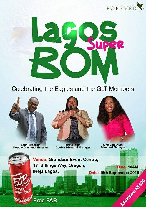 Lagos Super BOM, be there. Don't miss this great opportunity.