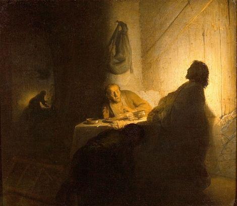Rembrandt van Rijn, Supper at Emmaus on ArtStack #rembrandt #art