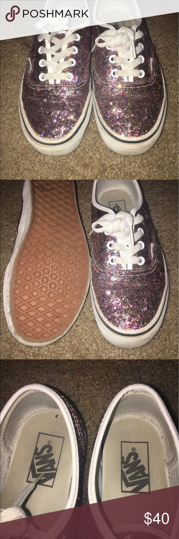 ✨✨Glitter Vans ! Glitter vans ! The glitter does not come off very stylish ! Have been worn a couple of times but in good condition! 7.5 women Vans Shoes Sneakers