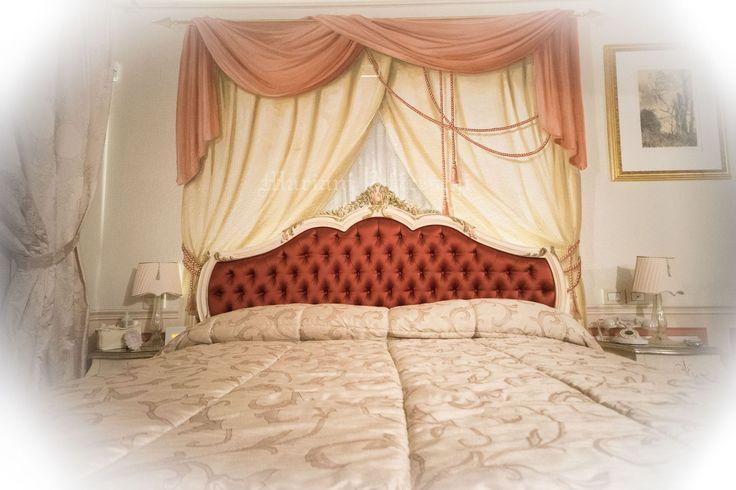 "A ""curtains"" trompe l'oeil painted by Mariani Affreschi. Private Villa, Forlì"