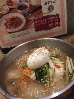 大名にあるhankkiにランチに行きました\(o)/韓国料理が定食で気軽に食べられる便利なお店です 今回冷麺いただきましたが超美味しかったです tags[福岡県]