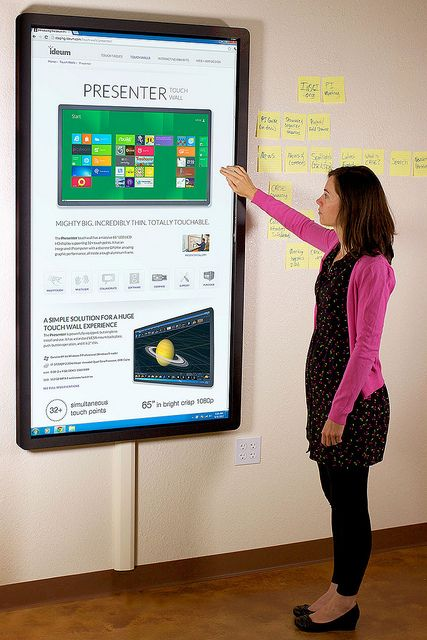 "Our new Presenter 65"" multitouch wall. This.Is.Cool. #Billhighway #nptech www.billhighway.co/"