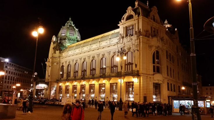The Municipal House on Republic Square. It contains the largest classical concert hall in the city, two nice restaurants and one of the most beautiful cafes in the city.