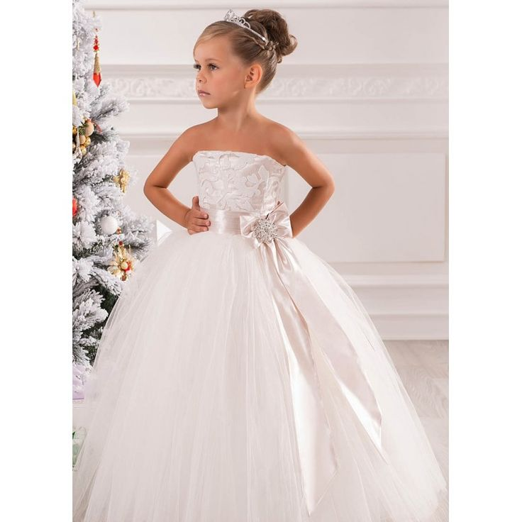 Off the Shoulder Lace Flower Girls Dresses For Weddings New 2016 Ball Gown Tulle Vintage White First Communion Dresses For Girls-in Flower Girl Dresses from Weddings & Events on Aliexpress.com | Alibaba Group