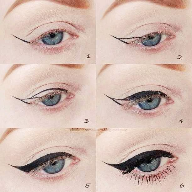 Lovely eyeliner. I must try this but will probably end up looking like modern art!
