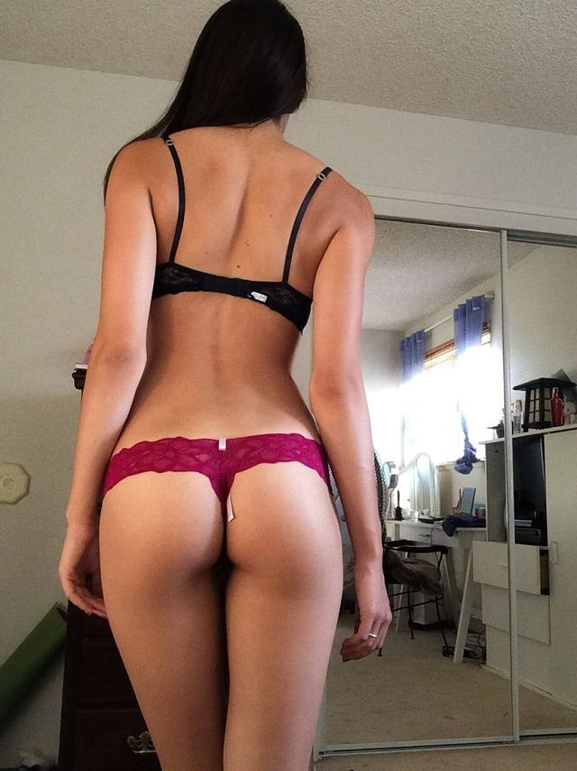 naked ass in g string