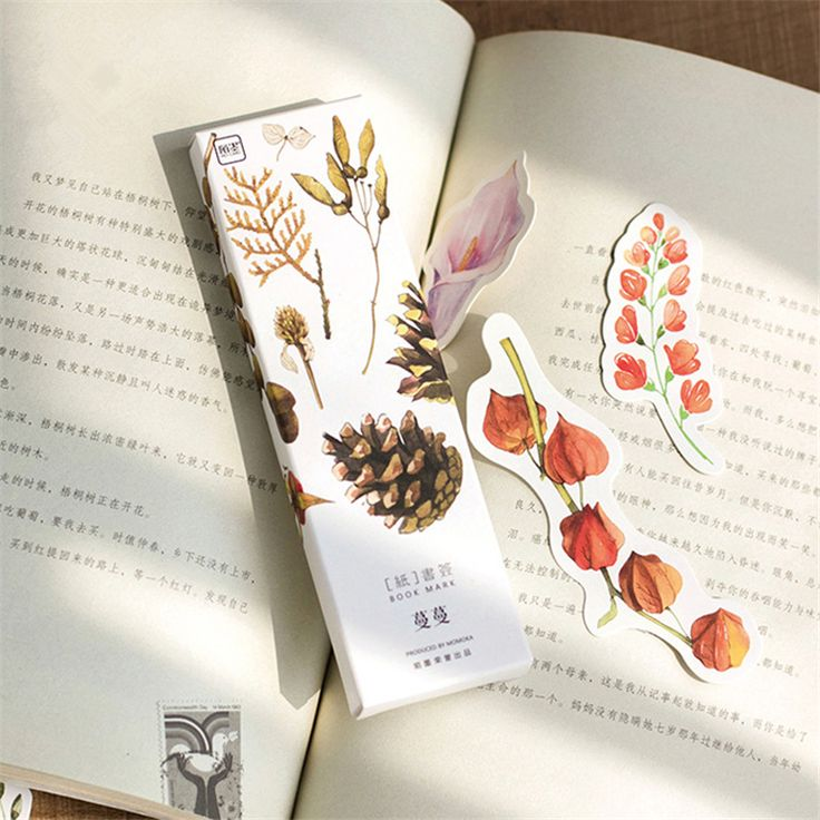Find More Bookmark Information about 30pcs/pack Warm Autunm Plant Paper Bookmark Creative DIY Hand Painted Bookmarks Cute Bookmarker Stationery Gift ,High Quality gift stationery wholesale,China gifts for girls age 12 Suppliers, Cheap gifts for football fans from Kiss Flower on Aliexpress.com