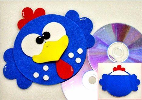 Porta CD da galinha pintadinha