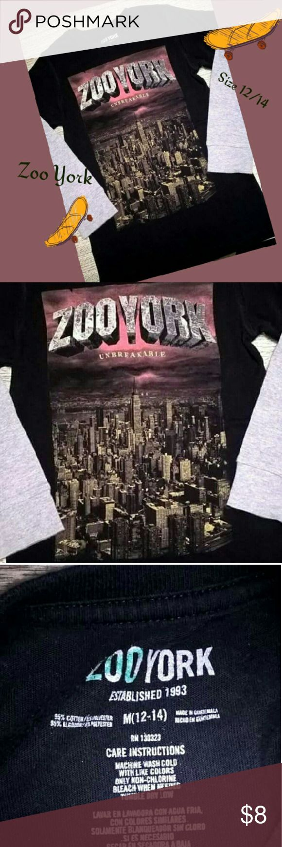 ZOO YORK LONG SLEEVE SKATE SHIRT SZ M 12/14 BOYS EUC. Does have a green marker X on the back of the shirt. See pics above. Zoo York Shirts & Tops Tees - Long Sleeve