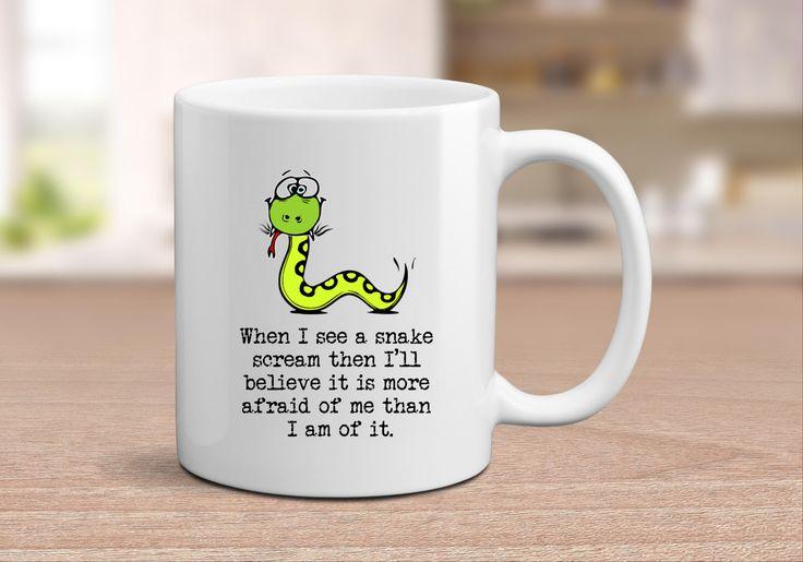 Funny Snake Mug, Silly Mugs, Gift for Her, Mothers Day Mug, Lake House Decor, Snake Gift, Country Living Mug, Farmhouse Mug, Mug for Mom by SimplyBrewed on Etsy