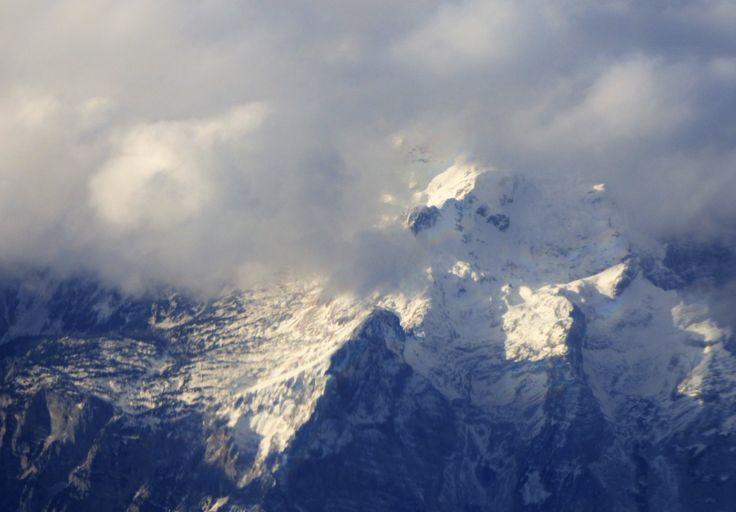 über den Alpen, Foto: S. Hopp