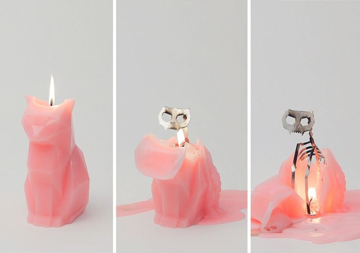 Delightfully Creepy Candle That Melts From A Cute