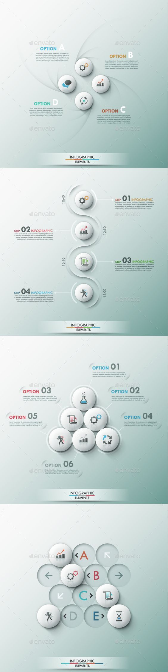Set of 4 Modern Infographic Template #design Download: http://graphicriver.net/item/set-of-4-modern-infographic-templates/9449510?ref=ksioks: