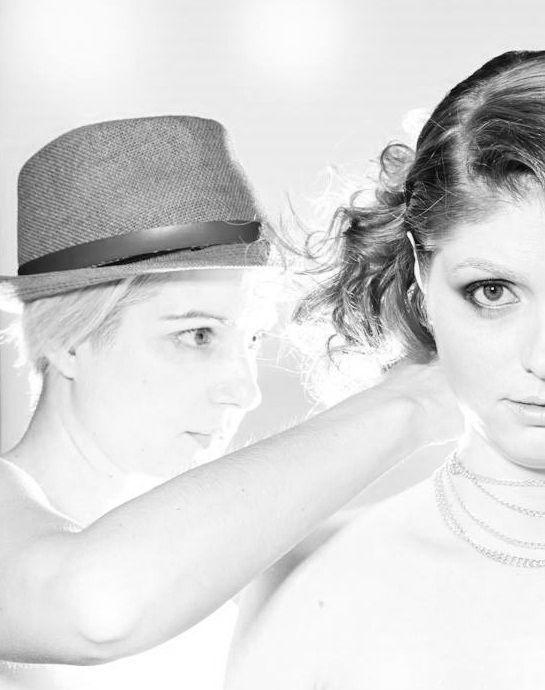 BEHIND THE SCENES 2015 PHOTO SHOOT- ARTISTS SALON & SPA - stylist MARIA RACCO & model Cassie Photographer Robin Gartner